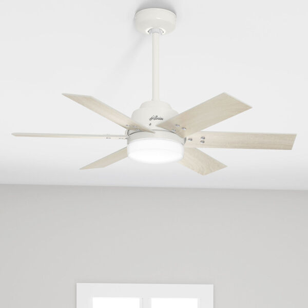 Pacer Fresh White 44-Inch Two-Light LED Ceiling Fan, image 5