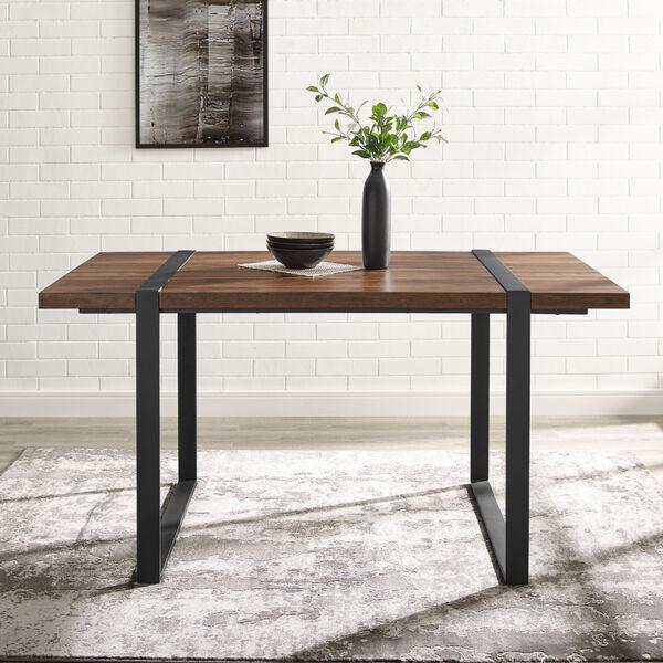 Urban Blend Dark Walnut and Black Dining Table, image 1