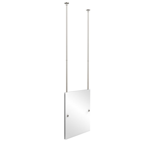 Satin Nickel Rectangle Ceiling Hung Mirror, image 1