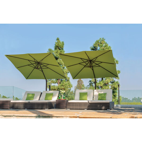 Skye Beige and Black Cantilever Umbrella, image 4
