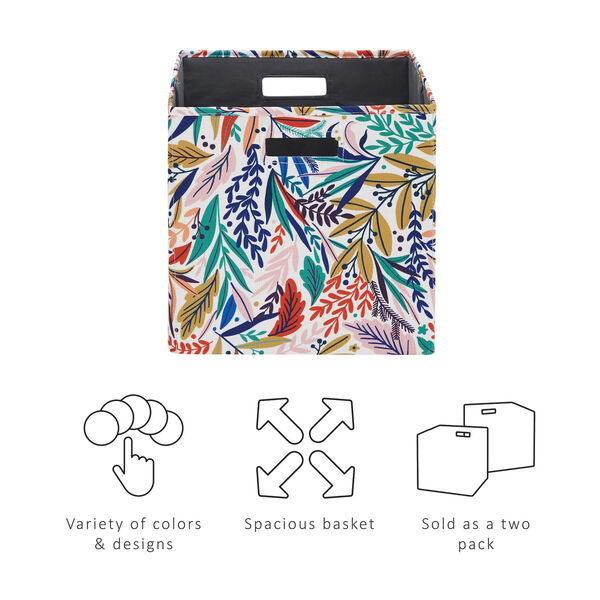 Liam Multicolor Floral Storage Bin, Pack of 2, image 5
