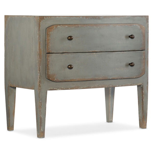 Ciao Bella Gray 34-Inch Two-Drawer Nightstand, image 1