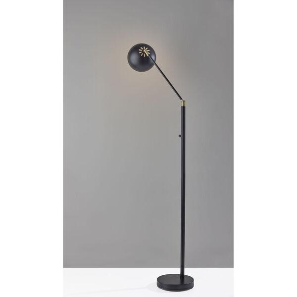 Ashbury Black Antique Brass Accent One-Light Floor Lamp, image 2