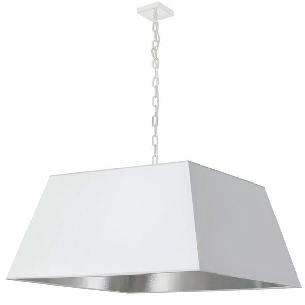 Milano White and Polished Chrome One-Light XL Pendant, image 1