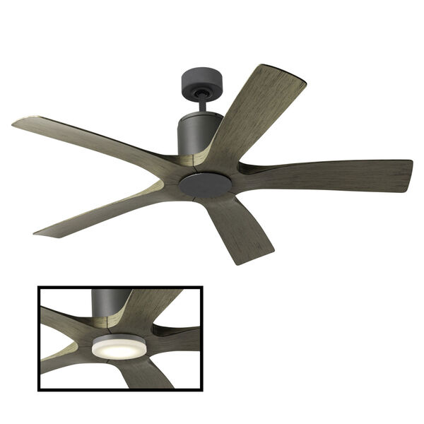 Aviator Graphite and Weathered Gray 54-Inch ADA LED Ceiling Fan, image 3