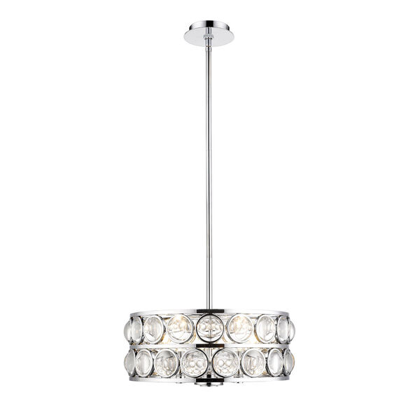 Eternity Chrome Five-Light Chandelier With Transparent Crystal, image 1