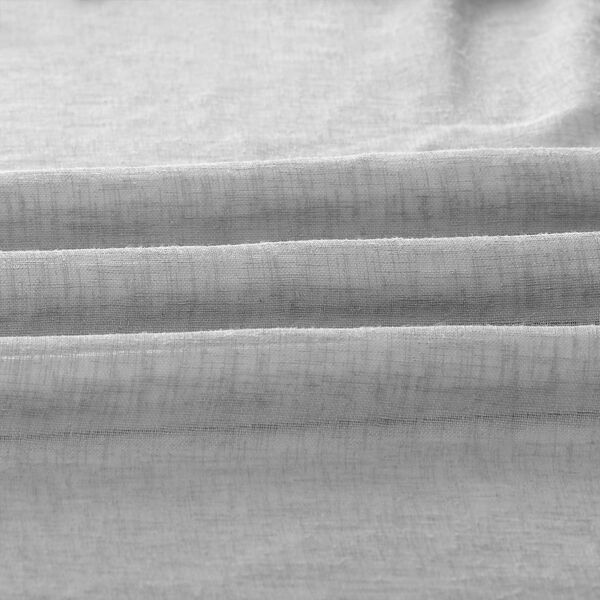 Nickel Faux Linen Sheer Single Panel Curtain Panel, 50 X 96, image 6