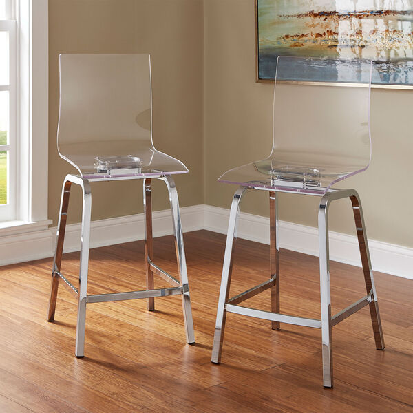 Seneca Acrylic Counter Chair, Set of 2, image 1