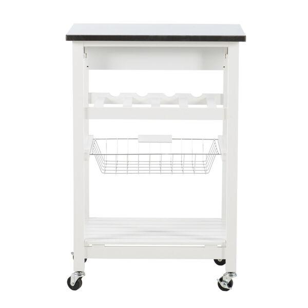 Autumn White Kitchen Cart, image 5