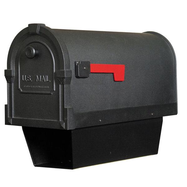 Savannah Black Curbside Mailbox with Paper Tube, image 1