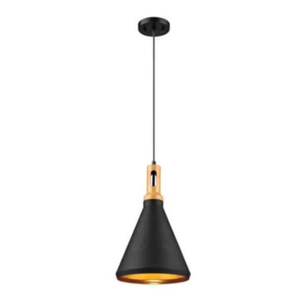 Cora Matte Black One-Light Mini Pendant, image 1