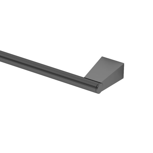 Bleu Matte Black 18-Inch Towel Bar, image 2