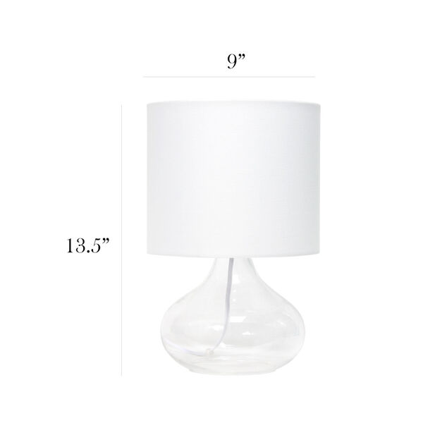 Cerise Clear White One-Light Raindrop Table Lamp, image 3