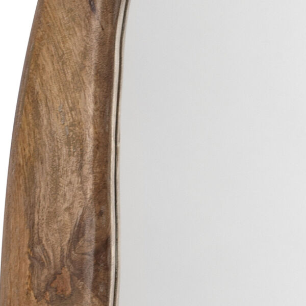 Organic Natural Wood Oval Mirror, image 3