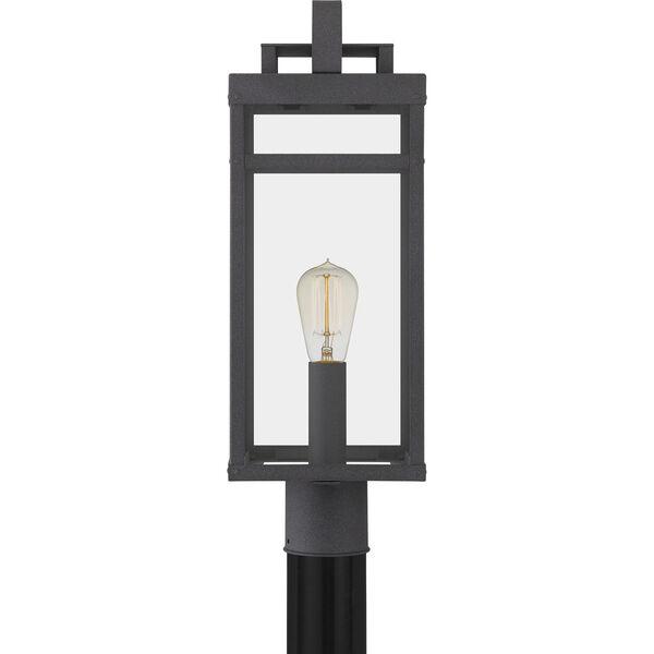 Keaton Mottled Black One-Light Outdoor Post Mount, image 4