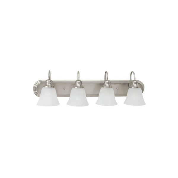 Windgate Brushed Nickel Energy Star Four-Light LED Bath Vanity, image 1