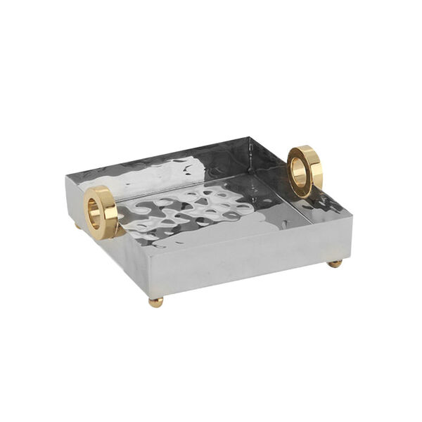 Nickel Gold Ring Lunch Tray, image 1