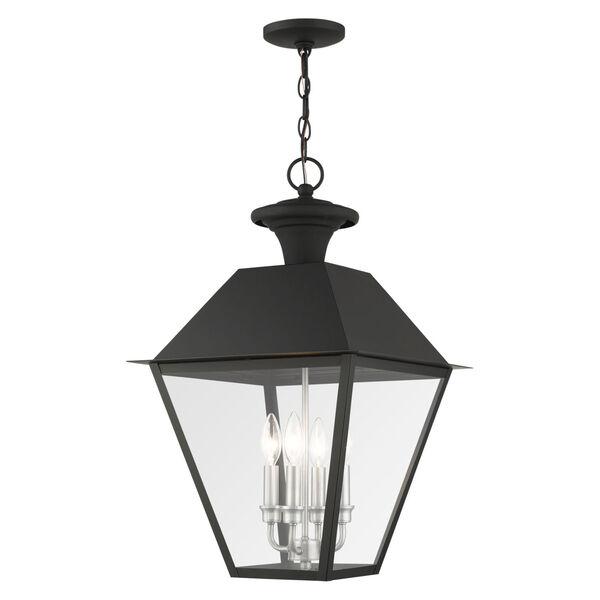 Mansfield Black Four-Light Outdoor Pendant, image 1