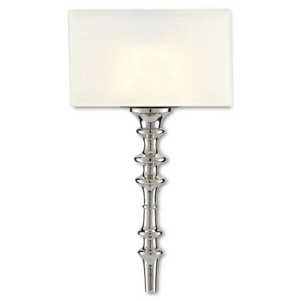 Achmore Nickel Black One-Light Wall Sconce, image 1