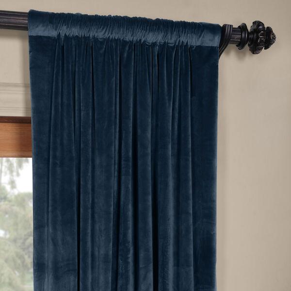 Blue 108 x 50 In. Plush Velvet Curtain Single Panel, image 3