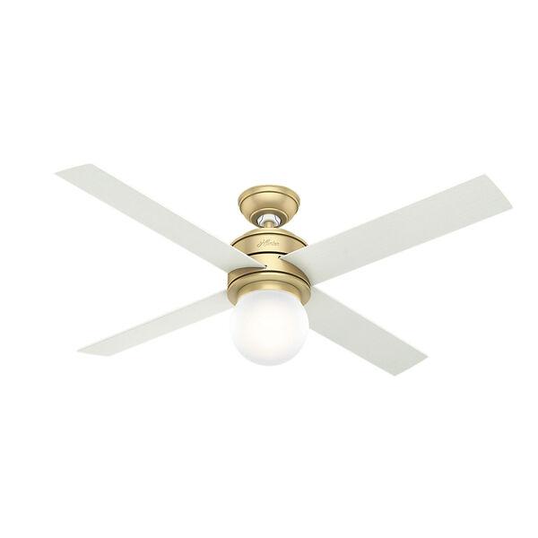 Hepburn Modern Brass 52-Inch One-Light LED Adjustable Ceiling Fan, image 1