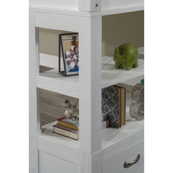Highlands White Twin Loft Bed With Desk, image 5