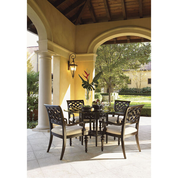 Royal Kahala Gold Sugar And Lace Dining Table with 60 In. Glass Top, image 3
