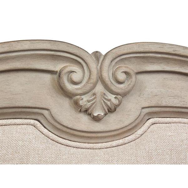 Jocelyn Weathered Taupe King Bed Upholstered Headboard, image 3