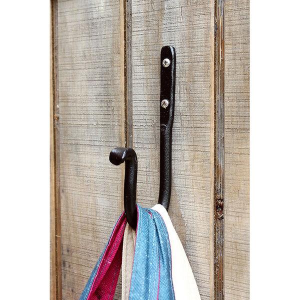 Black Powdercoat 4-Inch J-Hook, Set of Three, image 3