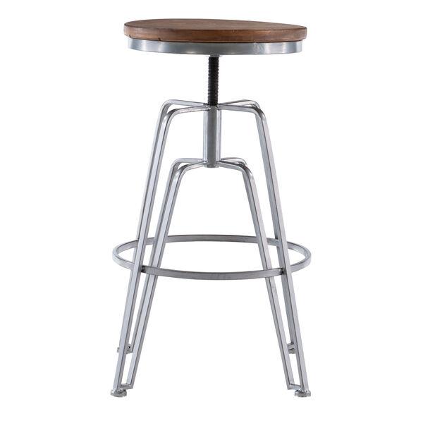 Rowan Silver Adjustable Bar Stool, image 6