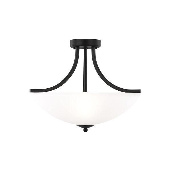 Geary Midnight Black Three-Light Semi-Flush Convertible Pendant, image 1