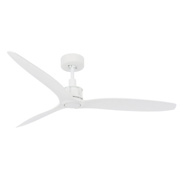 Lucci Air Viceroy White 52-Inch DC Ceiling Fan with White Blades, image 1