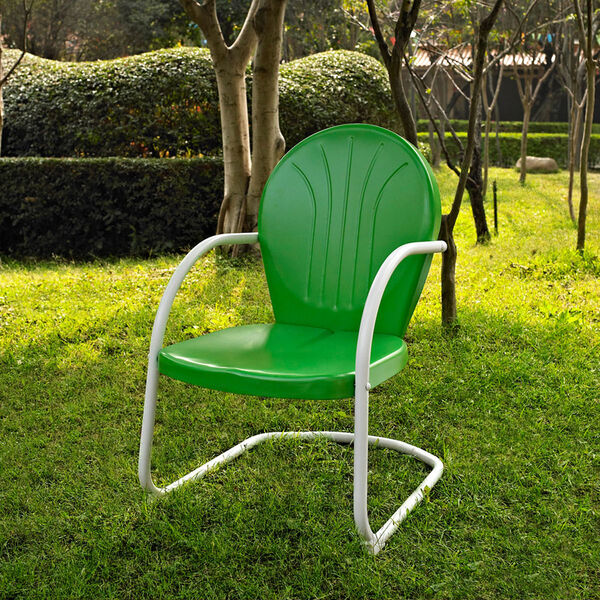 Griffith Metal Chair in Grasshopper Green Finish, image 2