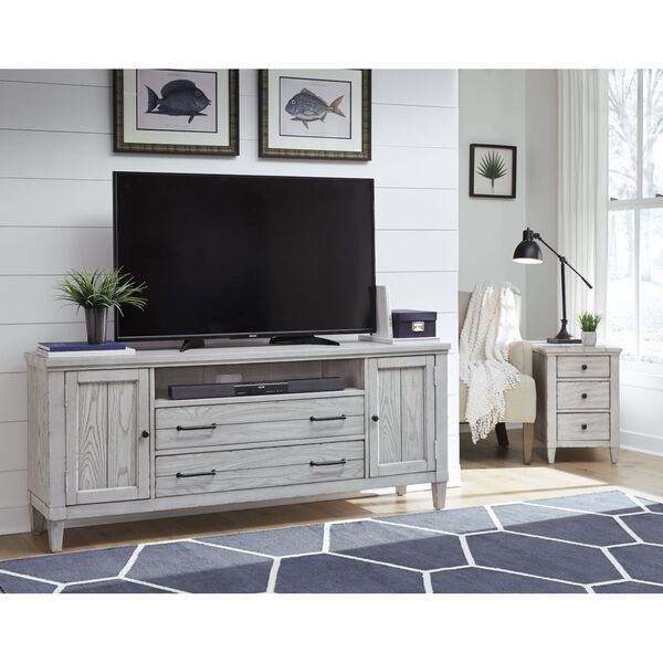 Belhaven Weathered Plank Entertainment Console, image 2