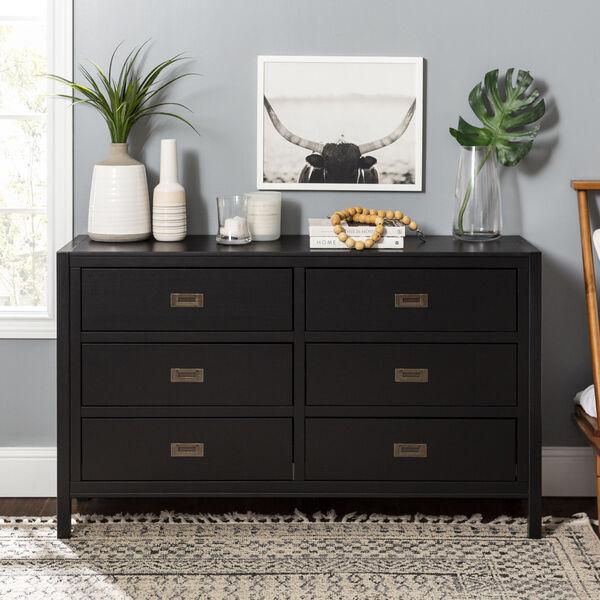 Lydia Black Dresser with Six Drawer, image 1