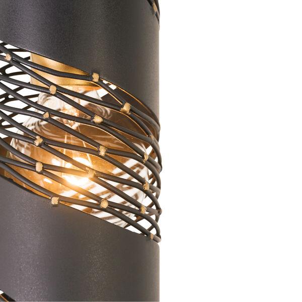 Flow Matte Black French Gold One-Light Mini Pendant, image 5