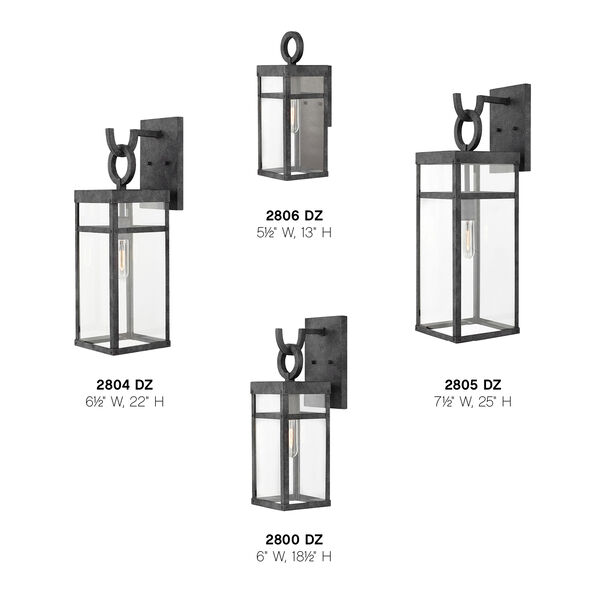 Porter Aged Zinc 22-Inch Outdoor Wall Mount, image 4