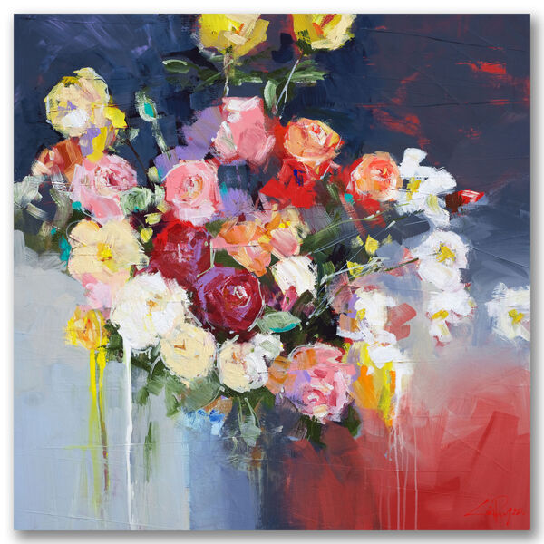 White Flowers Gallery Wrapped Canvas, image 2