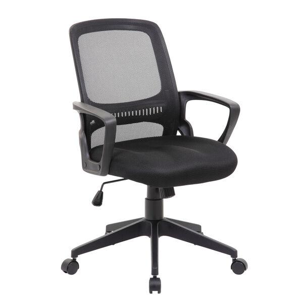 Boss 25-Inch Black Mesh Task Chair, image 1