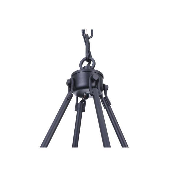 Larrson Flat Black Six-Light Chandelier, image 6