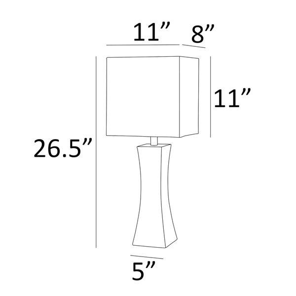 Enkel Dark Walnut Two-Light Table Lamp, Set of Two, image 4