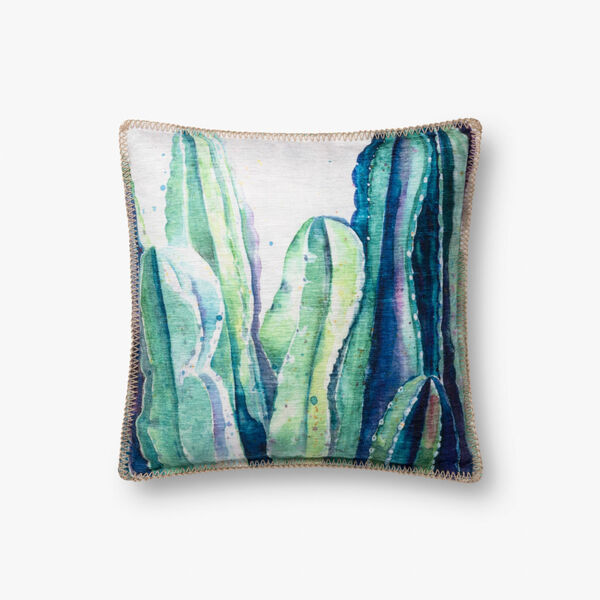 Green Polyester 18 In. x 18 In. Throw Pillow Cover, image 1