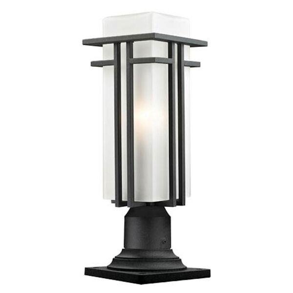 Abbey Black Outdoor Pier Mount Light, image 1
