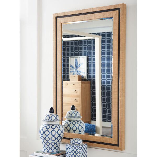 Newport Brown La Costa Rectangular Raffia Mirror, image 2