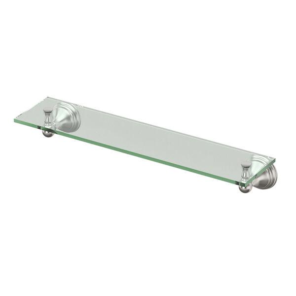 Charlotte Satin Nickel Glass Shelf, image 1