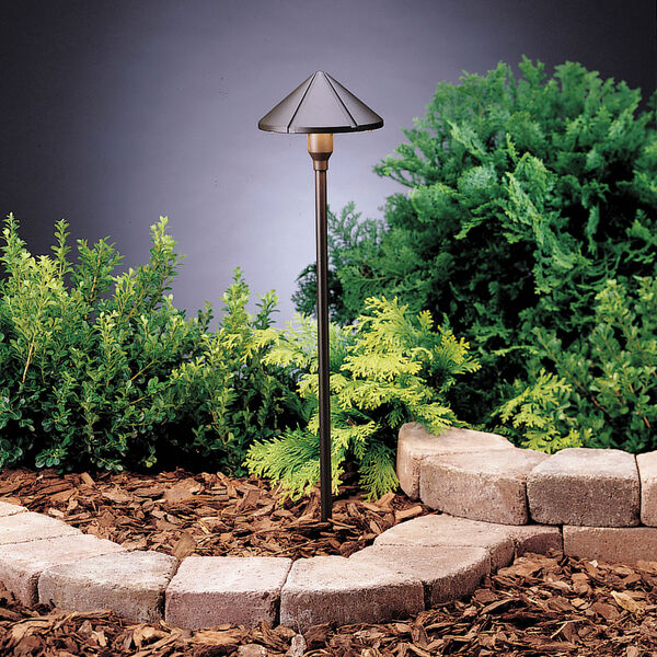 Six Groove Textured Architectural Bronze 23-Inch One-Light Landscape Path Light, image 1
