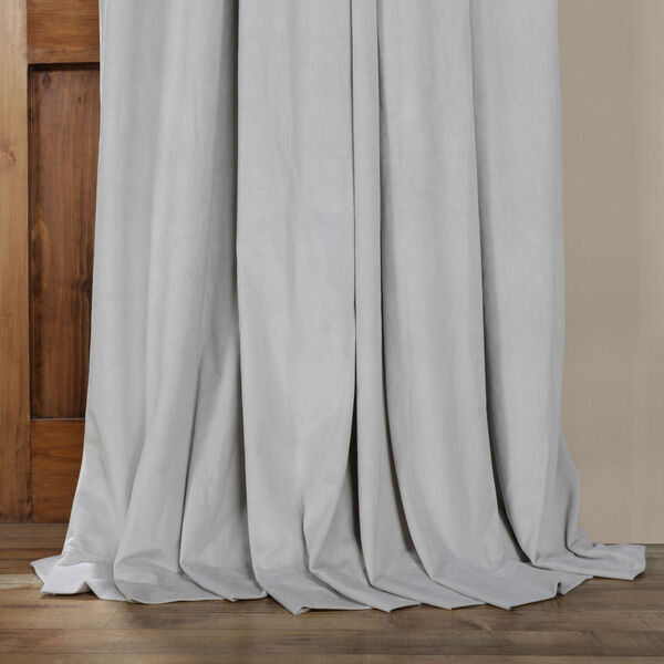 Reflection Gray 84 x 100-Inch Doublewide Blackout Velvet Curtain, image 5