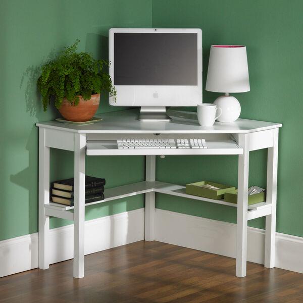 White Corner Computer Desk, image 1