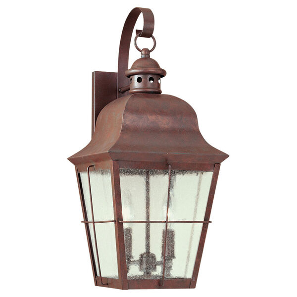 Colonial Copper Two-Light Outdoor Wall Mount, image 1