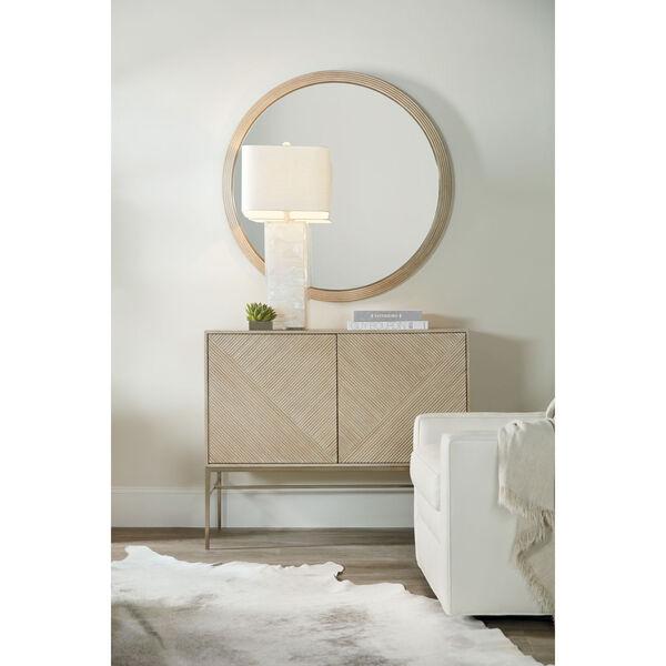 Cascade Taupe Round Mirror, image 1